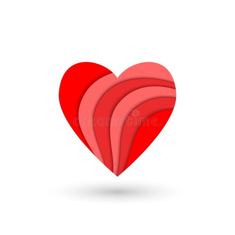 Extracto y corazón rojo acodado libre illustration