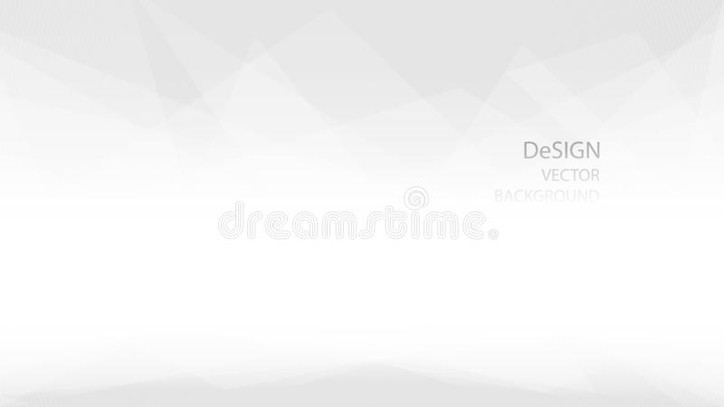 Extracto y forma poligonal baja geométrica elegante del color blanco y gris con el fondo del vector del diseño Ilustración del EP stock de ilustración