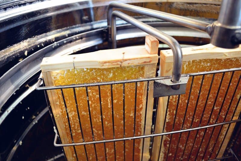Extractor de miel con peines de miel fotos de archivo libres de regalías