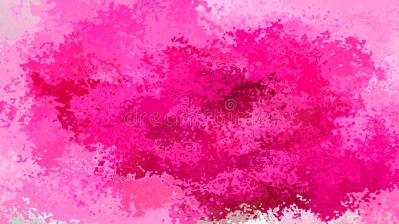 Extrahieren Sie befleckte magentarote pinkfarbene Farbe Burgunders der Musterrechteckhintergrundpinkrose - moderne Malereikunst - stock abbildung