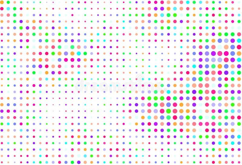 Extrahieren Sie Formmuster der farbigen Kreise, der Blasen, des Bereichs oder der Ellipsen Grafik, Zeichnung, Beschaffenheit u. V stock abbildung