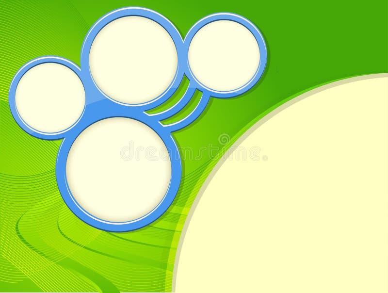 Extrahieren Sie Hintergrund mit Ringen. stock abbildung