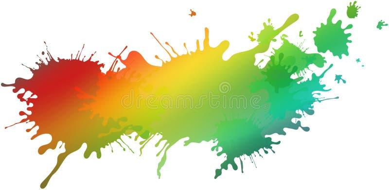 Extrahieren Sie lokalisierte bunte Farbe und plätschern Sie Regenbogenhintergrund lizenzfreie abbildung
