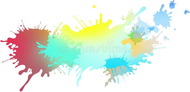 Extrahieren Sie lokalisierte bunte Pastellfarbe und plätschern Sie Hintergrund vektor abbildung