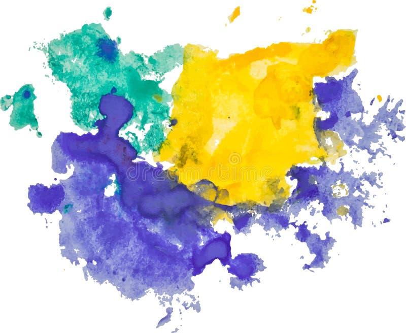 Extrahieren Sie lokalisierten Aquarellhand gezeichneten Papierbeschaffenheitsfleck stock abbildung