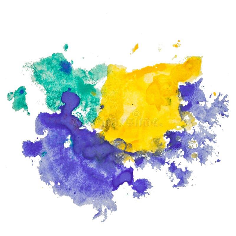 Extrahieren Sie lokalisierten Aquarellhand gezeichneten Papierbeschaffenheitsfleck lizenzfreie abbildung