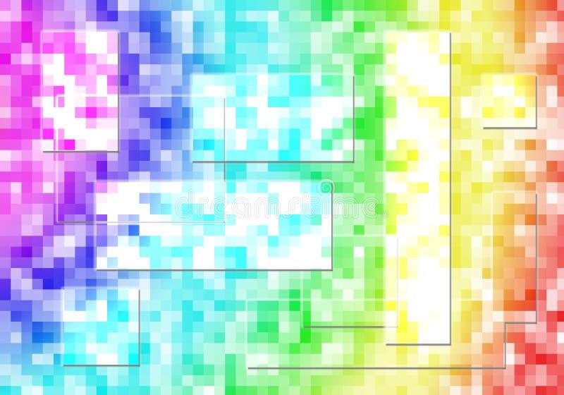 Extrahieren Sie Mehrfarben, Leuchten, Mosaikhintergrund stock abbildung