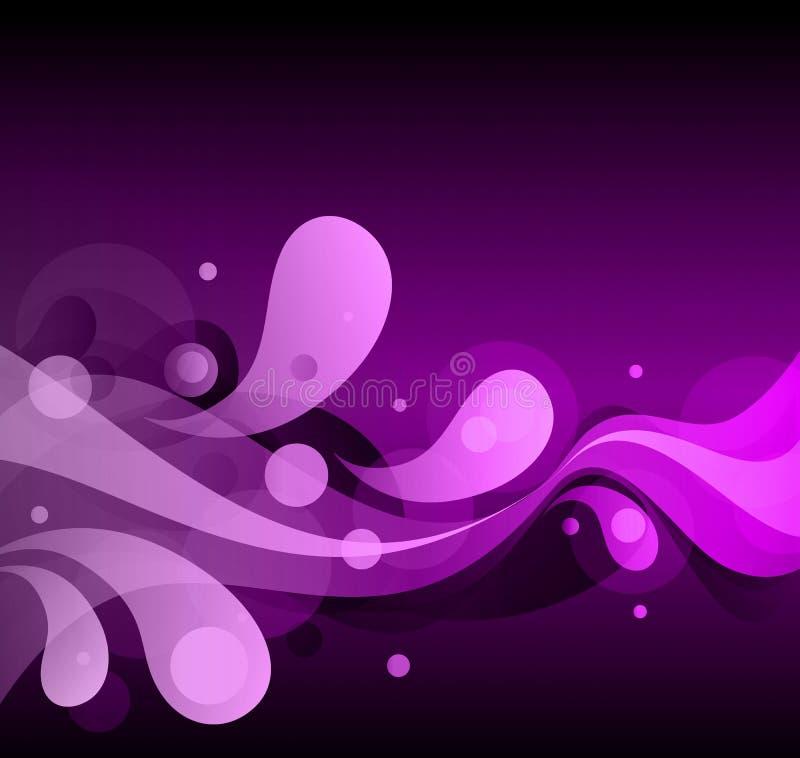 Extrahieren Sie rosa Glühen zurück vektor abbildung