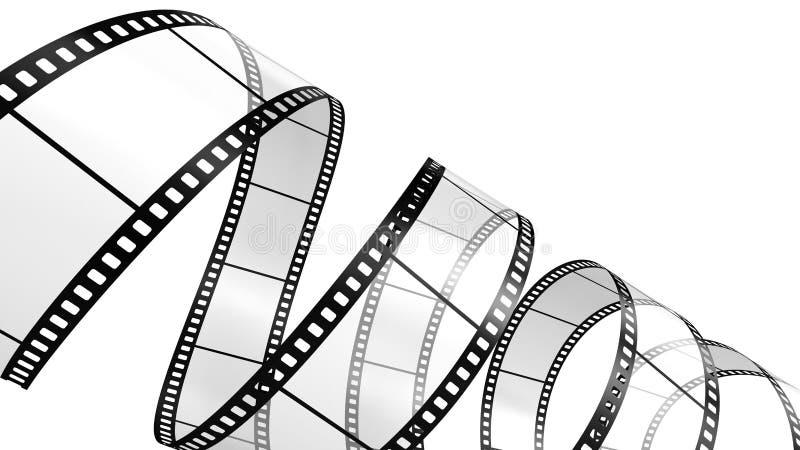 Extrait de film d'isolement sur le blanc illustration libre de droits