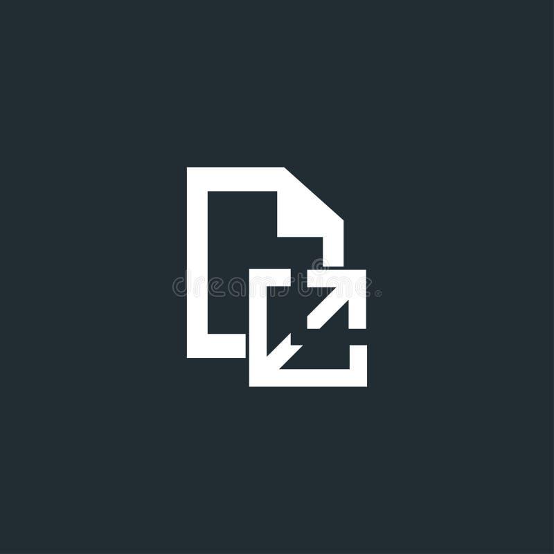 Extrait du document dans votre icône de document illustration de vecteur