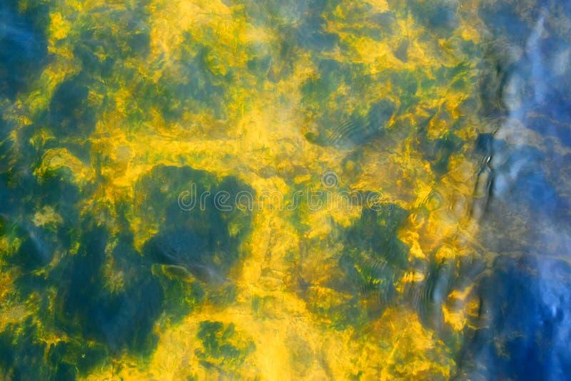 Extrait texturé jaune et bleu de flou et de formes image stock