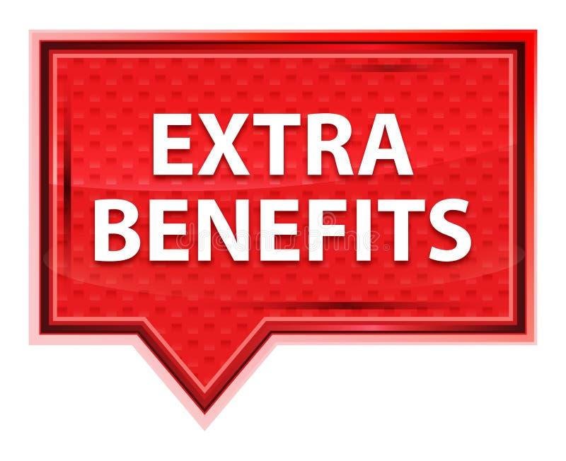 Extrakosten fördern nebelhaften Rosenrosa-Fahnenknopf lizenzfreie abbildung