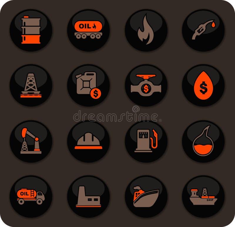 Extraktion av den olje- symbolsupps?ttningen royaltyfri illustrationer