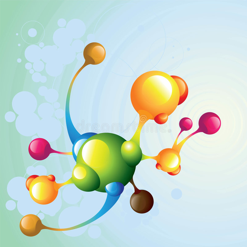 Extranjero de la molécula libre illustration