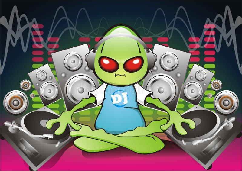 Extranjero DJ stock de ilustración