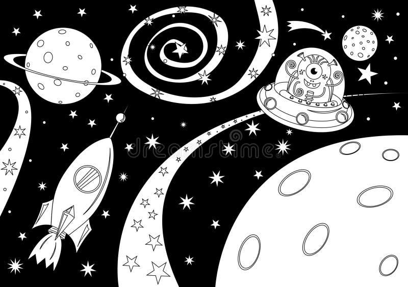 Extranjero en la nave espacial libre illustration