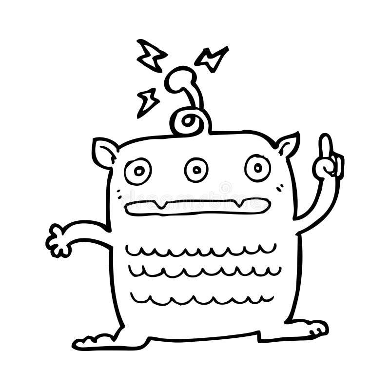 extranjero extraño de la historieta pequeño stock de ilustración
