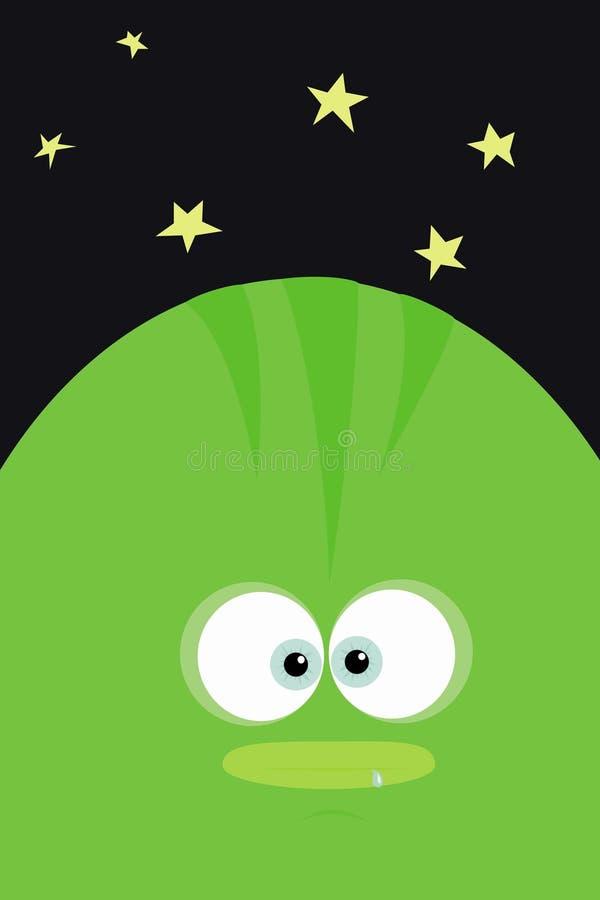 Extranjero verde ilustración del vector