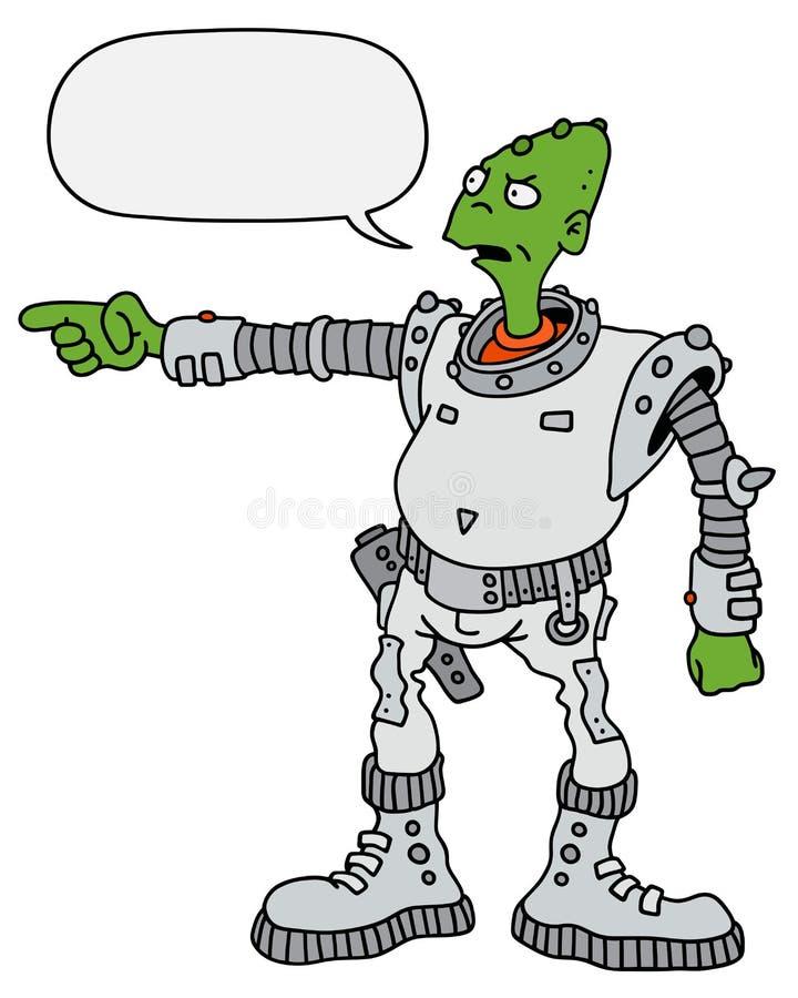 Extranjero verde divertido ilustración del vector