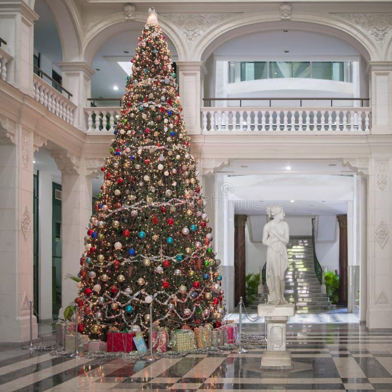 Extraordinary Christmas Tree, Havana, Cuba stock photo