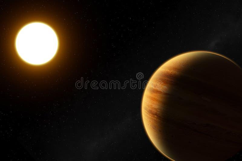 extrasolar pinneplanet för 51 b royaltyfri illustrationer