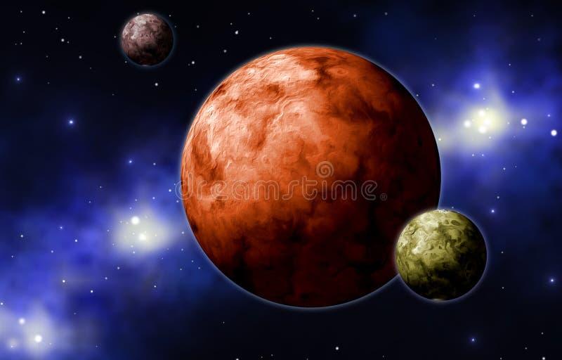 Extrasolar Planeten stock abbildung