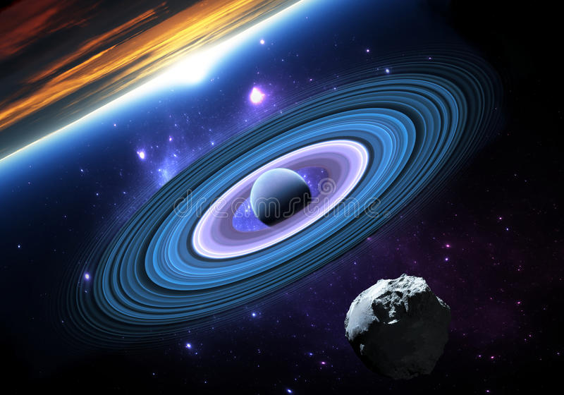 Extrasolar planeter eller exoplanets royaltyfri illustrationer