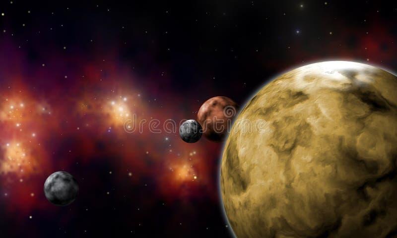 Extrasolar planets vector illustration