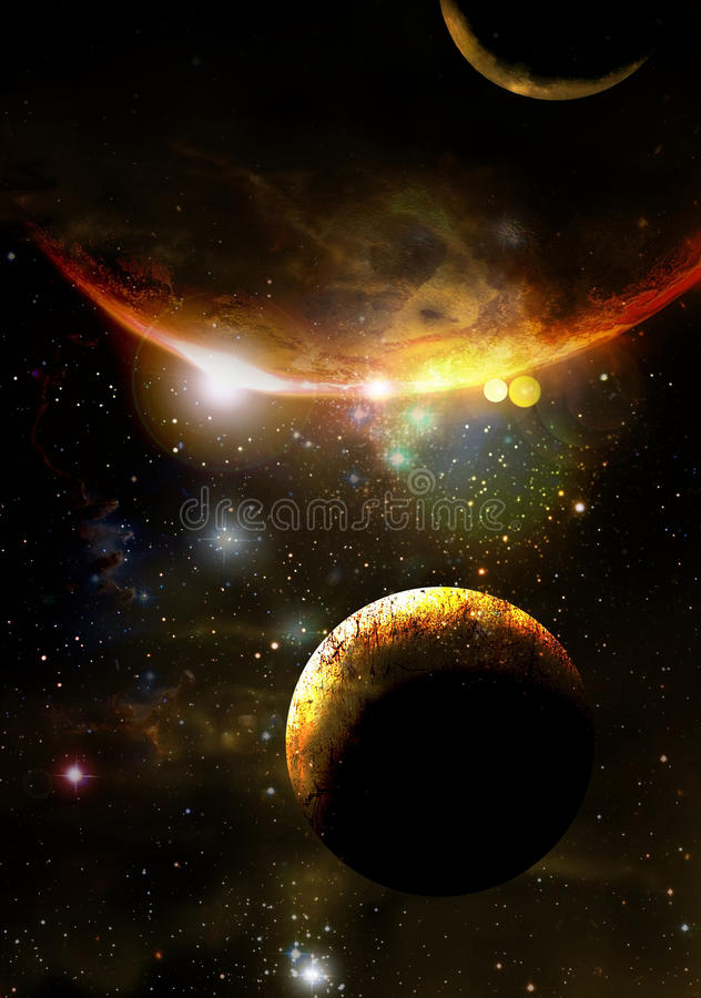 Extrasolar planets stock illustration