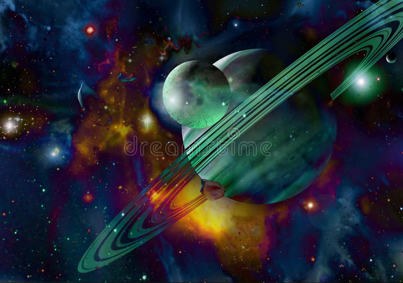 Extrasolar planets royalty free illustration