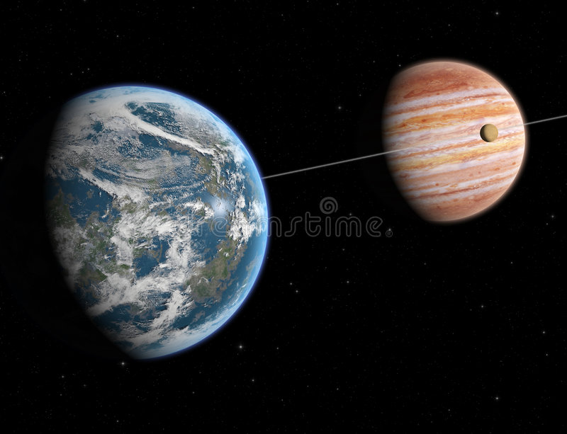 Download Extrasolar system stock illustration. Image of space, planet - 2503267