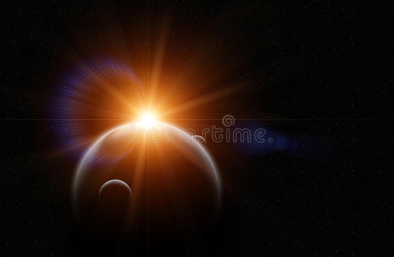 Extrasolarplanet stock abbildung