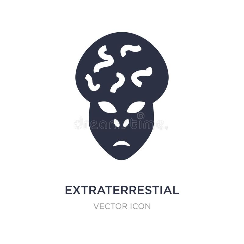 extraterrestial head icon on white background. Simple element illustration from Astronomy concept royalty free illustration
