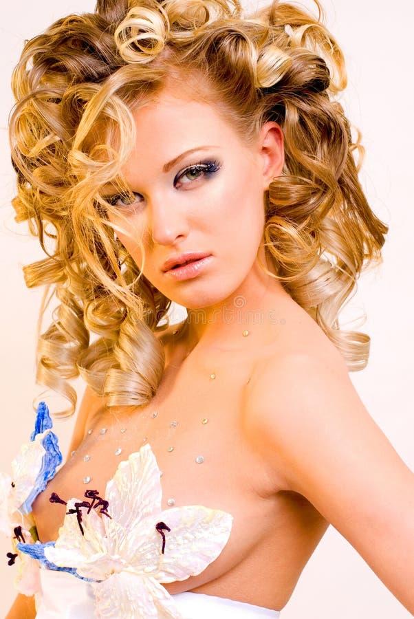 Extravagant bride royalty free stock image