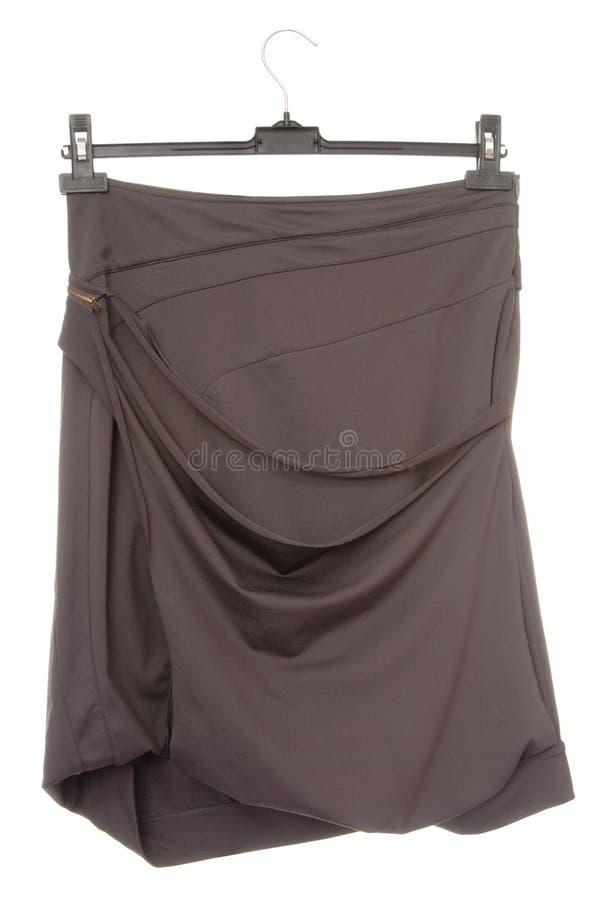 Extravagant skirt, asymmetric female clothes royalty free stock photo