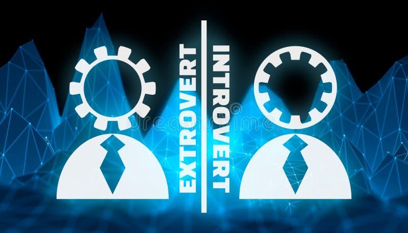 Extravert versus introvert royalty-vrije illustratie