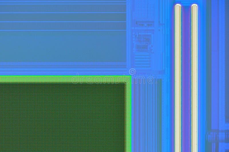 Extreem close-up van de digitale sensor van de telefooncamera royalty-vrije stock foto's
