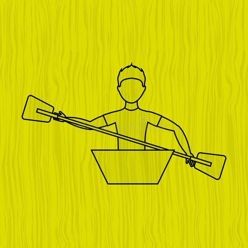 Extreem sportontwerp vector illustratie