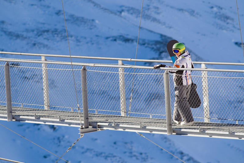 Extreeme sport på de europeiska alpsna royaltyfri fotografi
