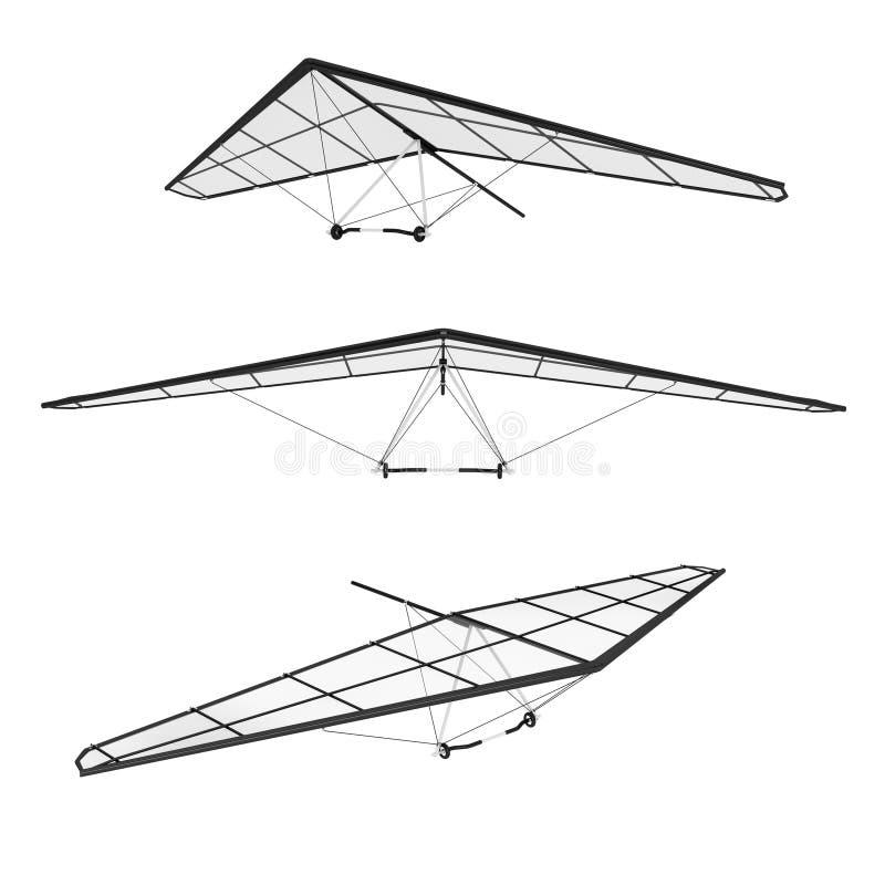 Extrem Closeup Hang Glidings arkivfoto