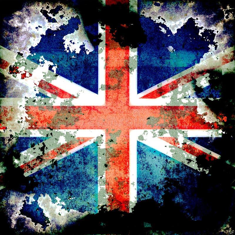 Extrem Grungeunion Jack Flag royaltyfri illustrationer