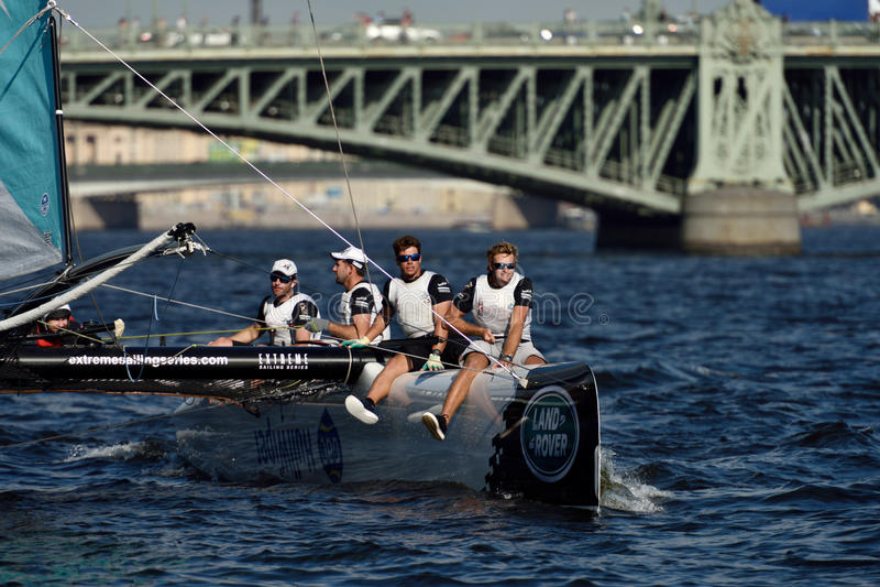 Extrem segla serie i St Petersburg, Ryssland arkivbilder