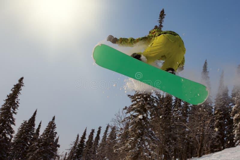 extrem snowboarder royaltyfria foton
