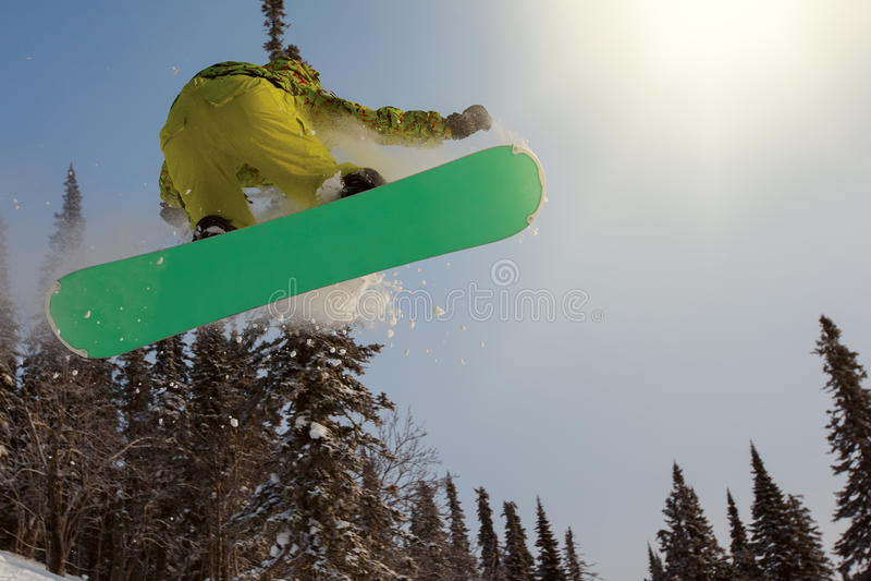extrem snowboarder arkivfoton