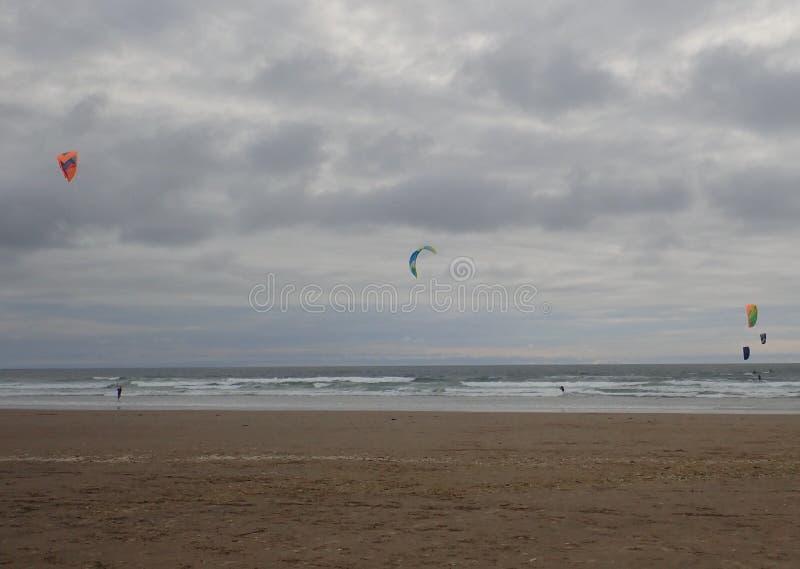 Extrem sommarsport Kiteboarding arkivfoto