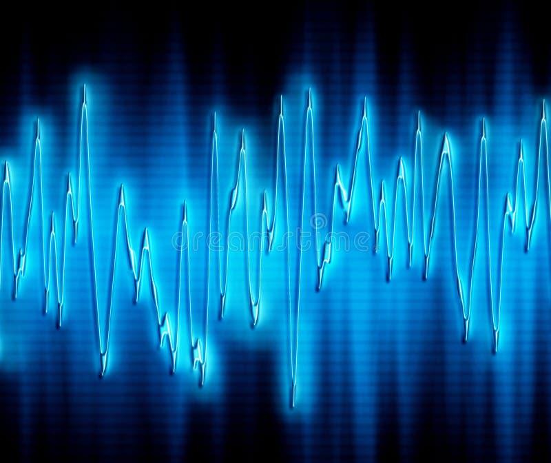 Extrem Sound Wave Royaltyfria Foton