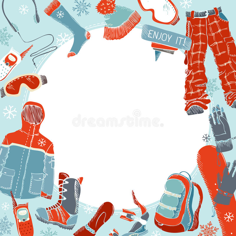 Extrem sportbakgrund för vinter royaltyfri illustrationer