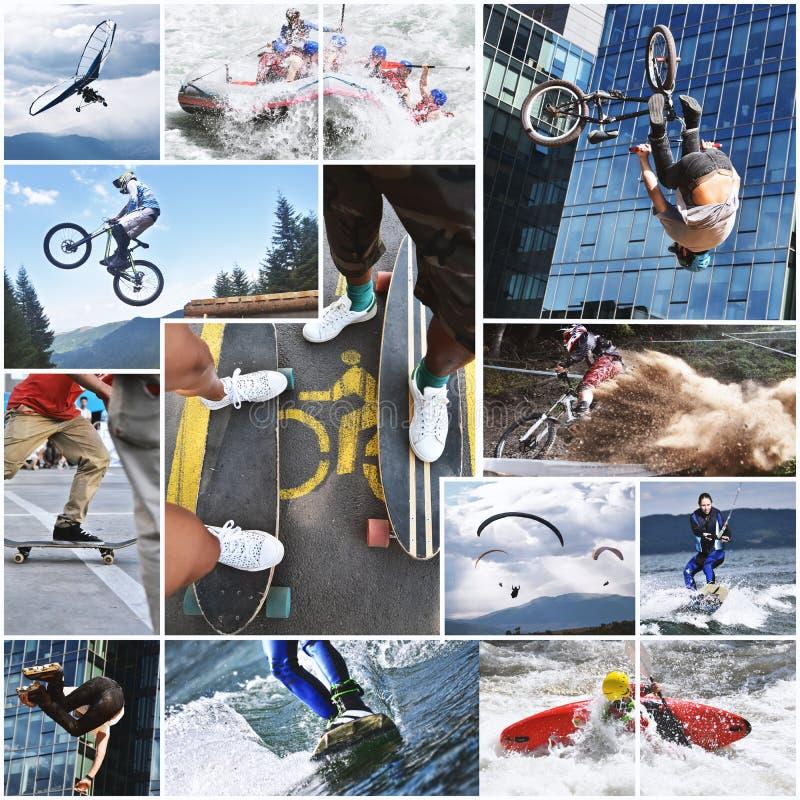 Extrem sportcollage fotografering för bildbyråer