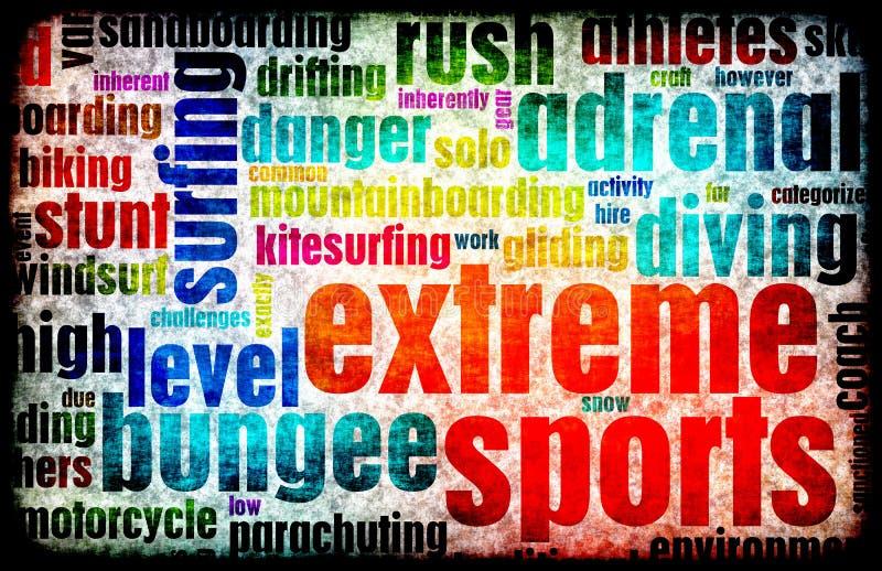 extrema sportar stock illustrationer