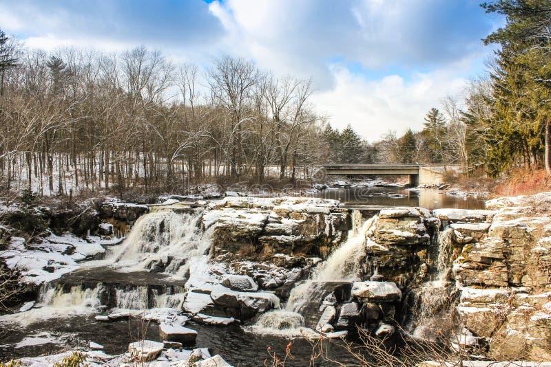 Extrema vintervillkor i Pocono berg arkivbilder